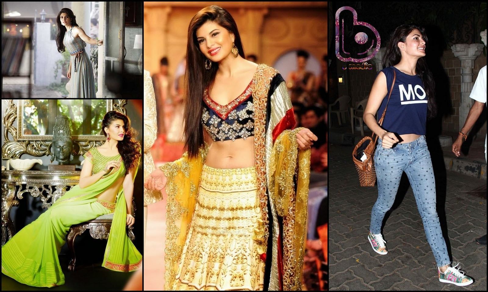 Bollywood Actresses who Rock both the Indian and the Western look!- Jacqueline