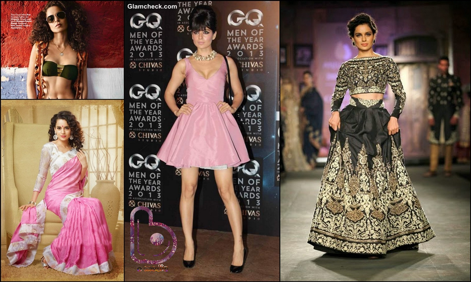 Bollywood Actresses who Rock both the Indian and the Western look!- kangana