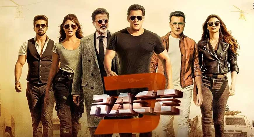 Highest Second Day Collection in Bollywood | Race 3 is at second position